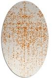 rug #1092706 | oval orange faded rug