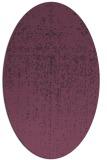 rug #1092734 | oval purple rug