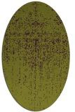 rug #1092738 | oval green abstract rug