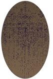 rug #1092742 | oval purple faded rug