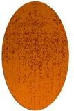 rug #1092766   oval red-orange faded rug