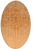 rug #1092770   oval red-orange faded rug