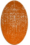 rug #1092778 | oval red-orange abstract rug