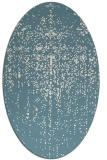 rug #1092806 | oval blue-green rug