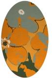 rug #109281 | oval light-orange rug
