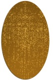 rug #1092826 | oval yellow abstract rug