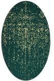 rug #1092830   oval yellow abstract rug