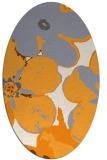 rug #109285   oval light-orange natural rug