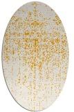 rug #1092850 | oval light-orange graphic rug