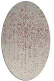 rug #1092854 | oval pink natural rug