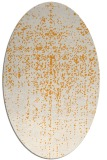 rug #1092862 | oval light-orange abstract rug
