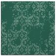 rug #1094026 | square blue-green damask rug
