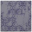 rug #1094062 | square blue-violet damask rug