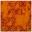 rug #1094174 | square orange damask rug