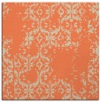 rug #1094182 | square orange damask rug