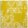 rug #1094294 | square yellow damask rug