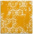 rug #1094322 | square light-orange damask rug