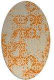 rug #1094338 | oval beige damask rug