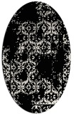 rug #1094342   oval white faded rug