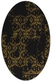 rug #1094358 | oval black traditional rug