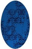 rug #1094370 | oval blue faded rug