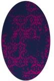 rug #1094374   oval pink damask rug