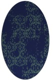 rug #1094378 | oval blue traditional rug