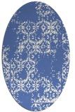 rug #1094386 | oval blue damask rug