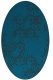 rug #1094406 | oval blue damask rug