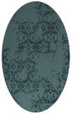 rug #1094414 | oval blue-green rug