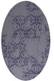 rug #1094430   oval blue-violet damask rug
