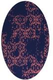 rug #1094434 | oval blue-violet damask rug