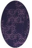 rug #1094438   oval purple faded rug