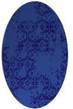 rug #1094442 | oval blue-violet traditional rug