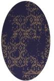 rug #1094446 | oval beige traditional rug