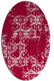 rug #1094458 | oval red traditional rug