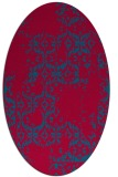rug #1094463 | oval damask rug