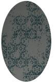 rug #1094470 | oval green damask rug