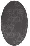 rug #1094490 | oval brown rug
