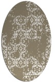 rug #1094498 | oval white traditional rug