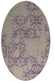rug #1094522 | oval beige faded rug