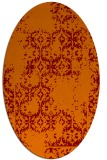 rug #1094542 | oval red-orange damask rug