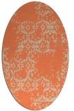 rug #1094550 | oval orange damask rug
