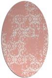 rug #1094570 | oval pink popular rug