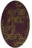 rug #1094578 | oval purple faded rug