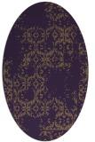 rug #1094582   oval purple traditional rug