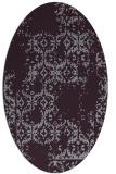 rug #1094586 | oval purple traditional rug