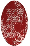 rug #1094598 | oval red faded rug