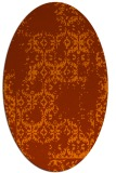 rug #1094606 | oval red-orange damask rug