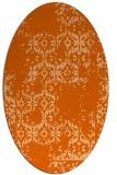 rug #1094610 | oval red-orange damask rug